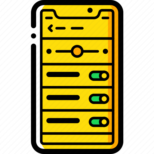 apple, device, iphone, settings, smart, smart phone icon