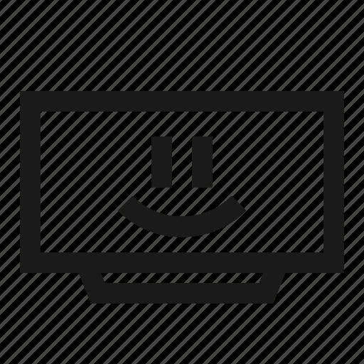 emoji, happy, monitor, screen, smart, smiley, tv icon