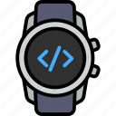 coding, code, program, system, programming, software, smart watch