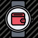 interface, money, smart, ui, wallet, watch icon