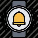 alarm, bell, interface, smart, ui, watch