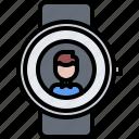 call, interface, man, smart, ui, user, watch