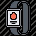 calories, fire, interface, smart, sport, ui, watch