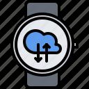 cloud, data, exchange, interface, smart, ui, watch