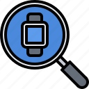 interface, magnifier, search, smart, ui, watch