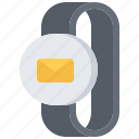 email, interface, mail, message, smart, ui, watch icon