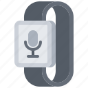 dictaphone, interface, microphone, smart, ui, watch icon