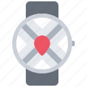 interface, location, map, pin, smart, ui, watch icon