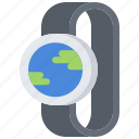 global, interface, internet, planet, smart, ui, watch icon