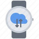 cloud, data, exchange, interface, smart, ui, watch icon