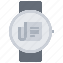 interface, news, newspaper, smart, ui, watch icon