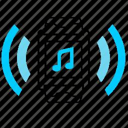 music, note, smart, sound, watch icon