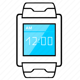 display, screen, smart, time, vertical, watch icon