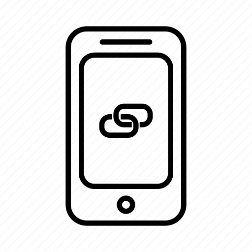 attachment, chink, connect, link, phone, smartphone icon
