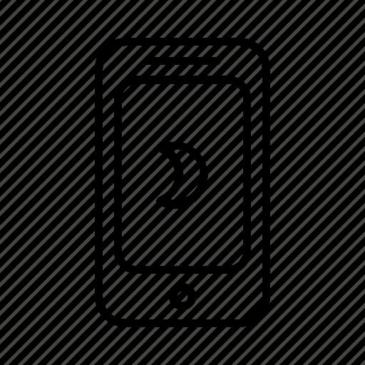 full, moon, night, phone, smartphone, wane, wax icon