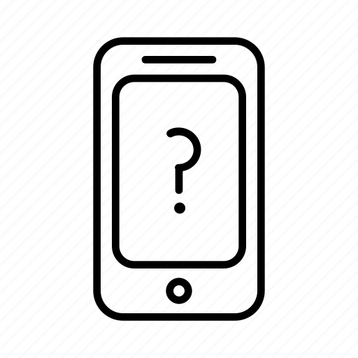 mark, phone, punctuation, question, smartphone, unknown icon