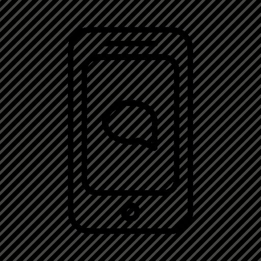 bubble, communicate, phone, smartphone, speech, talk icon