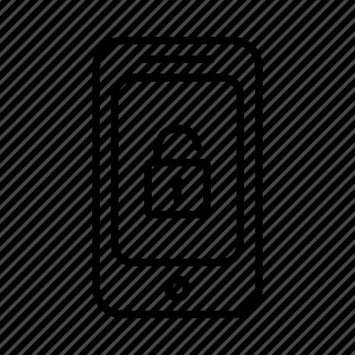 lock, padlock, password, phone, smartphone, unlock, unlocked icon