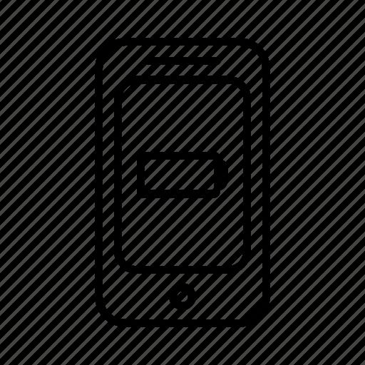 battery, empty, energy, phone, power, smartphone icon