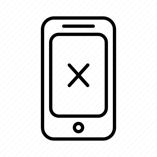 cross, mark, phone, smartphone, tick icon
