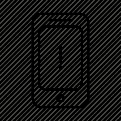 exlcamation, phone, point, smartphone icon