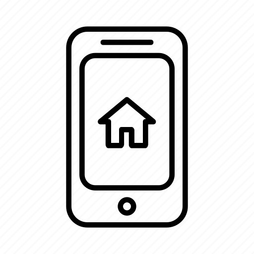 building, home, house, location, phone, smartphone icon