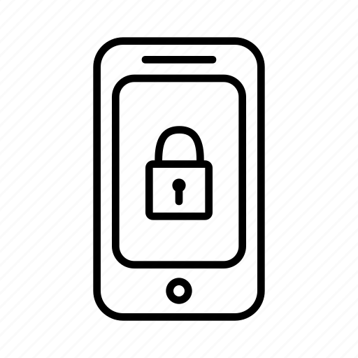 lock, locked, padlock, password, phone, smartphone, unlock icon