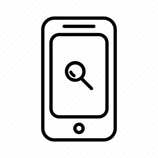glass, magnify, phone, smartphone, zoom icon