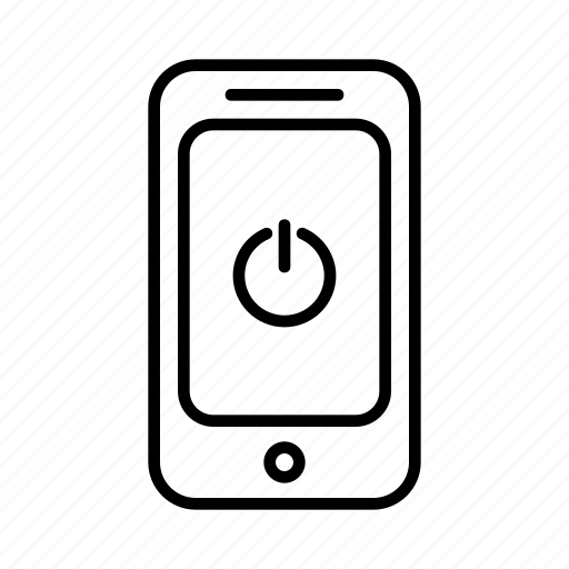 energy, off, on, phone, power, smartphone icon