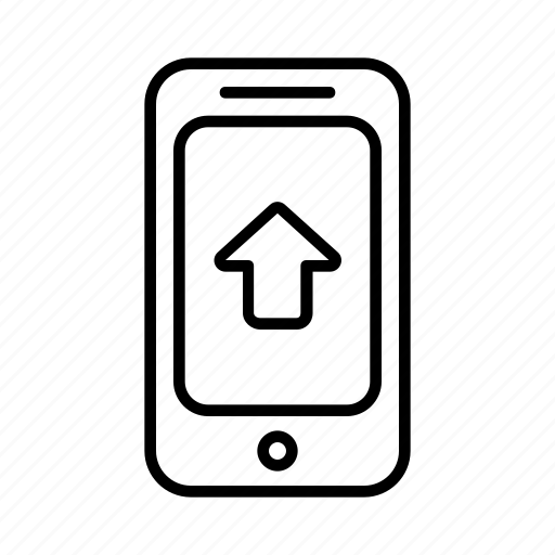 arrow, direction, location, phone, point, smartphone, up icon