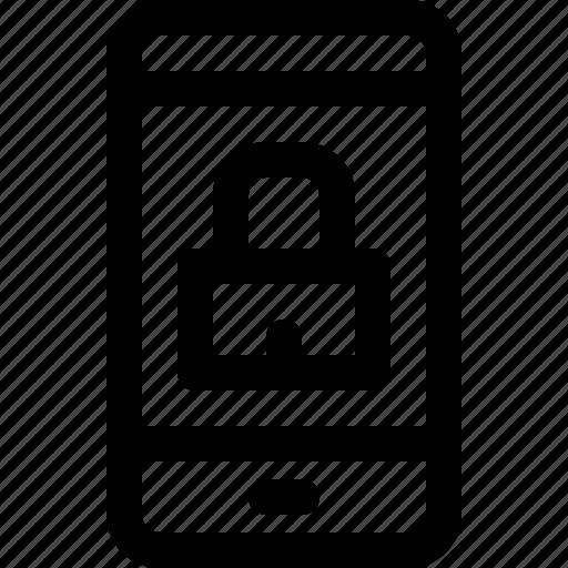 Lock, phone, phone icon, smartphone, smartphone icon icon - Download on Iconfinder