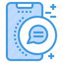 chat, conversation, mobile, phone, smartphone, technology icon