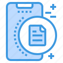 file, mobile, phone, smartphone, technology icon