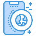 global, mobile, phone, smartphone, technology, wolrd icon