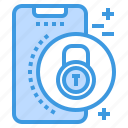 lock, mobile, phone, smartphone, technology icon