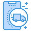 logistic, mobile, phone, smartphone, technology icon
