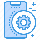 gear, mobile, phone, setting, smartphone, technology icon