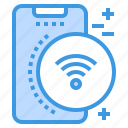 connect, mobile, phone, smartphone, technology, wifi icon