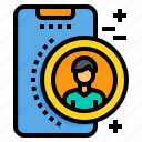 contact, mobile, phone, smartphone, technology icon
