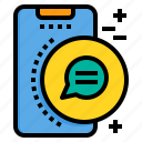 chat, conversation, mobile, phone, smartphone, technology