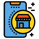 mobile, phone, shop, shopping, smartphone, technology icon