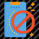 ban, mobile, phone, smartphone, technology