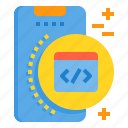 browser, code, mobile, phone, smartphone, technology icon