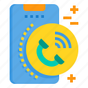 call, mobile, phone, smartphone, technology icon