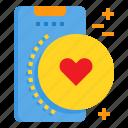 heart, love, mobile, phone, smartphone, technology