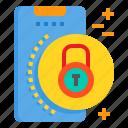 lock, mobile, phone, smartphone, technology icon
