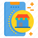 mobile, phone, shop, shopping, smartphone, technology