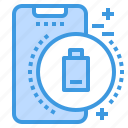 battery, low, mobile, phone, smartphone, technology icon