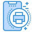 mobile, phone, printer, smartphone, technology