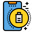 battery, mobile, phone, smartphone, technology icon